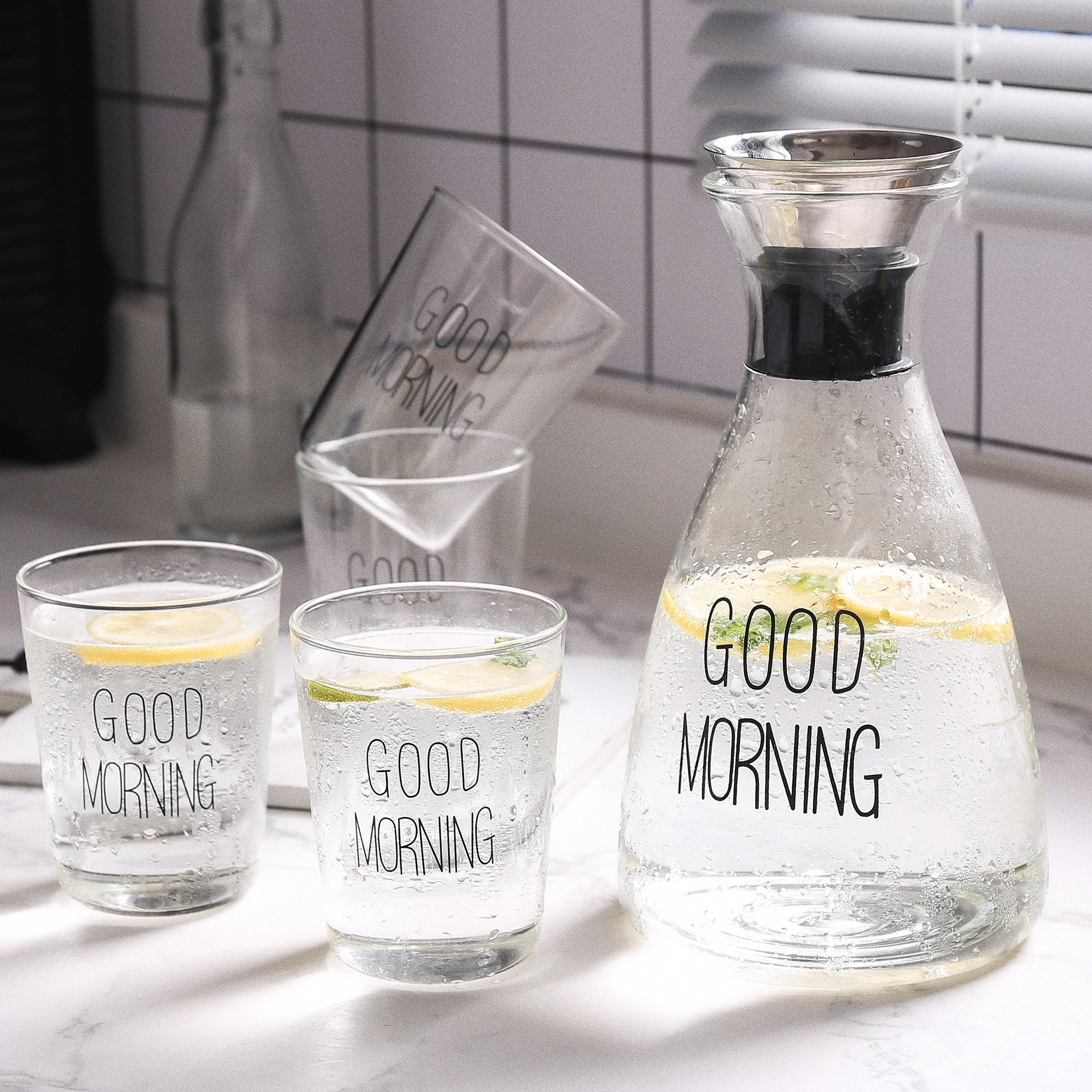 密封玻璃水壶大容量