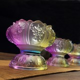 Lotus lamp holder colorful glass for Buddha lotus lamp candle holder lamp decoration