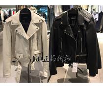 030460247100243046ra女装新品短版仿皮车手夹克外套皮衣ZA
