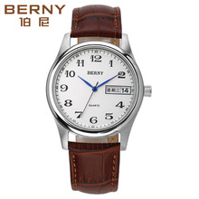 Bernie Digital Watch Men's Business Quartz Watch Double Calendar Watch Women's Waterproof Couple Watch