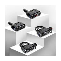 汽车车载充电器一拖三点烟器电线万能型多功能USB多用插头一拖二
