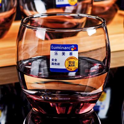 特价弓箭乐美雅 彩色玻璃杯创意耐热水杯茶杯透明四方 圆形杯无盖