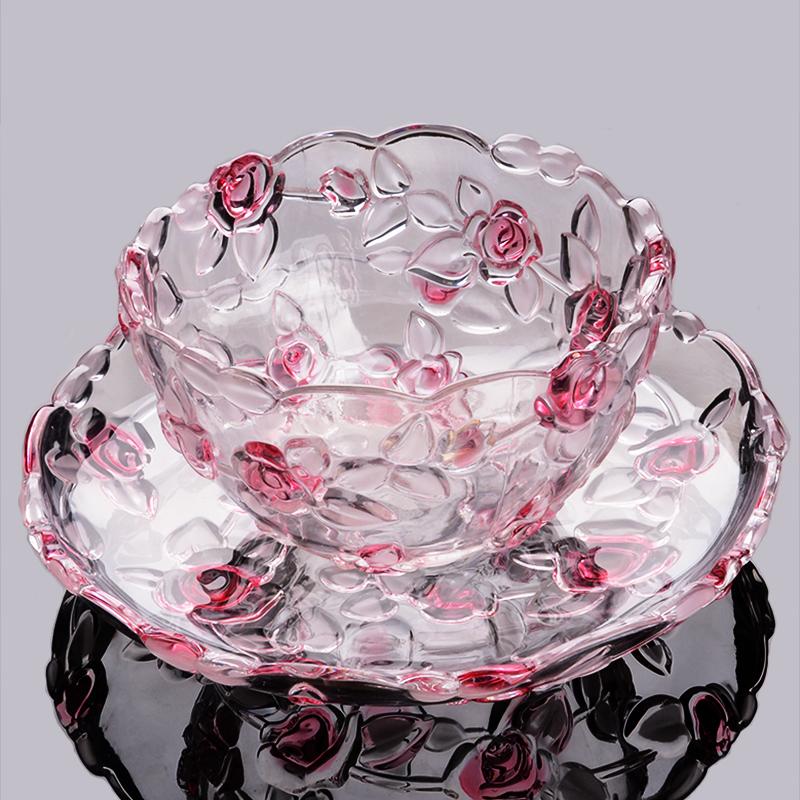 水晶玻璃水果盘欧式大小号现代创意客厅茶几干果糖果小吃零食盘子