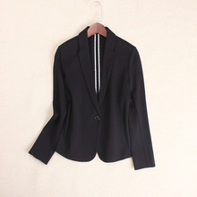 Autumn New Modal Knitted Cotton Thin Suit A Button Elastic Chic Small Suit Women's Short Coat