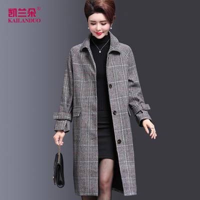 中年人外套30到40一50岁妈妈秋冬装新款5o中午女风衣3o端庄大气4o