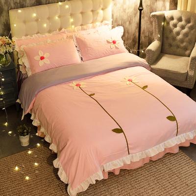 蕾丝花边双人床