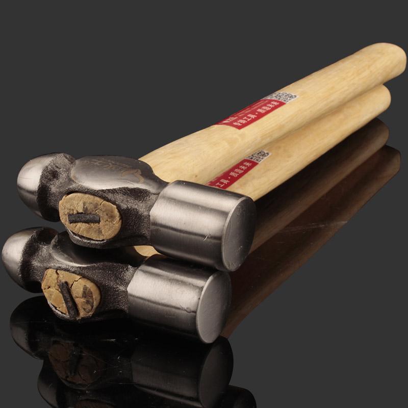 圆头锤家用五金木柄锤锻打奶头锤安装锤子钢锤核桃锤榔头锤子