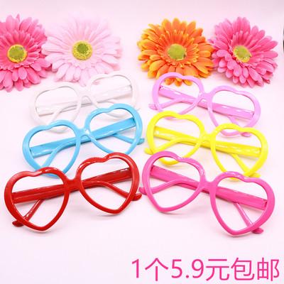 可爱儿童眼镜框宝宝无镜片太阳镜架男童女童配饰宝宝框架公主玩具