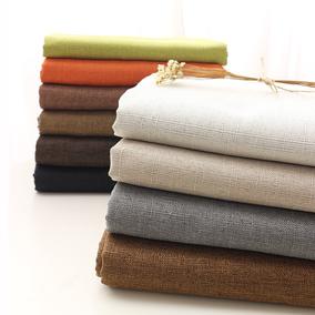 加厚涤棉麻布料沙发布料窗帘布料遮光粗麻亚麻面料桌布帆布纯色