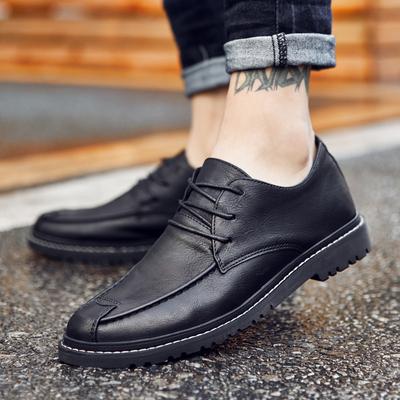 潮流系带男皮鞋