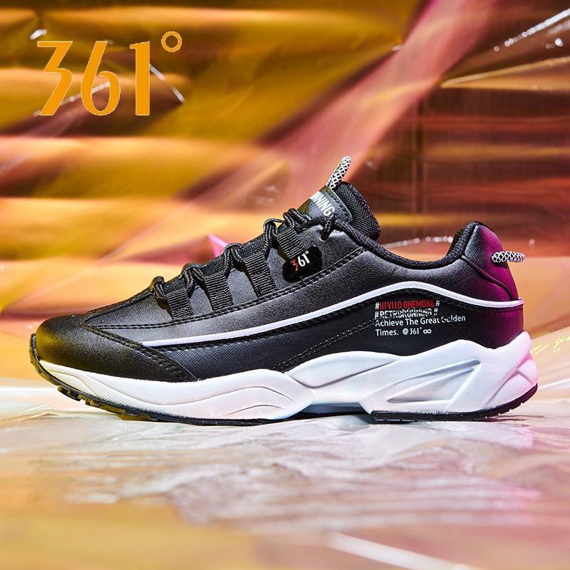 361度女鞋秋季新款2019复古跑步鞋板鞋冬季老爹鞋潮休闲运动鞋女