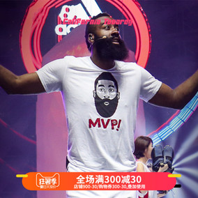 阿迪达斯adidas 哈登中国行卡通logo男篮球训练透气短袖T恤EB4986