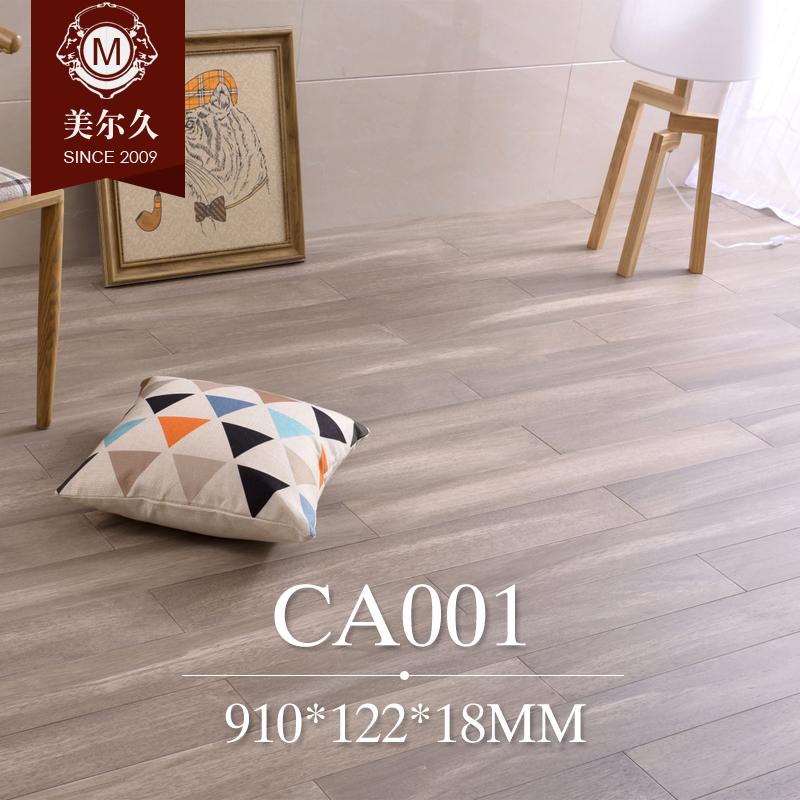 美尔久黑灰色仿古实木地板CA110001