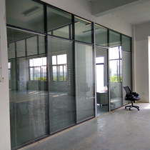 Shanghai custom office partition screen 80 single glass blinds high partition wall indoor partition soundproof compartment