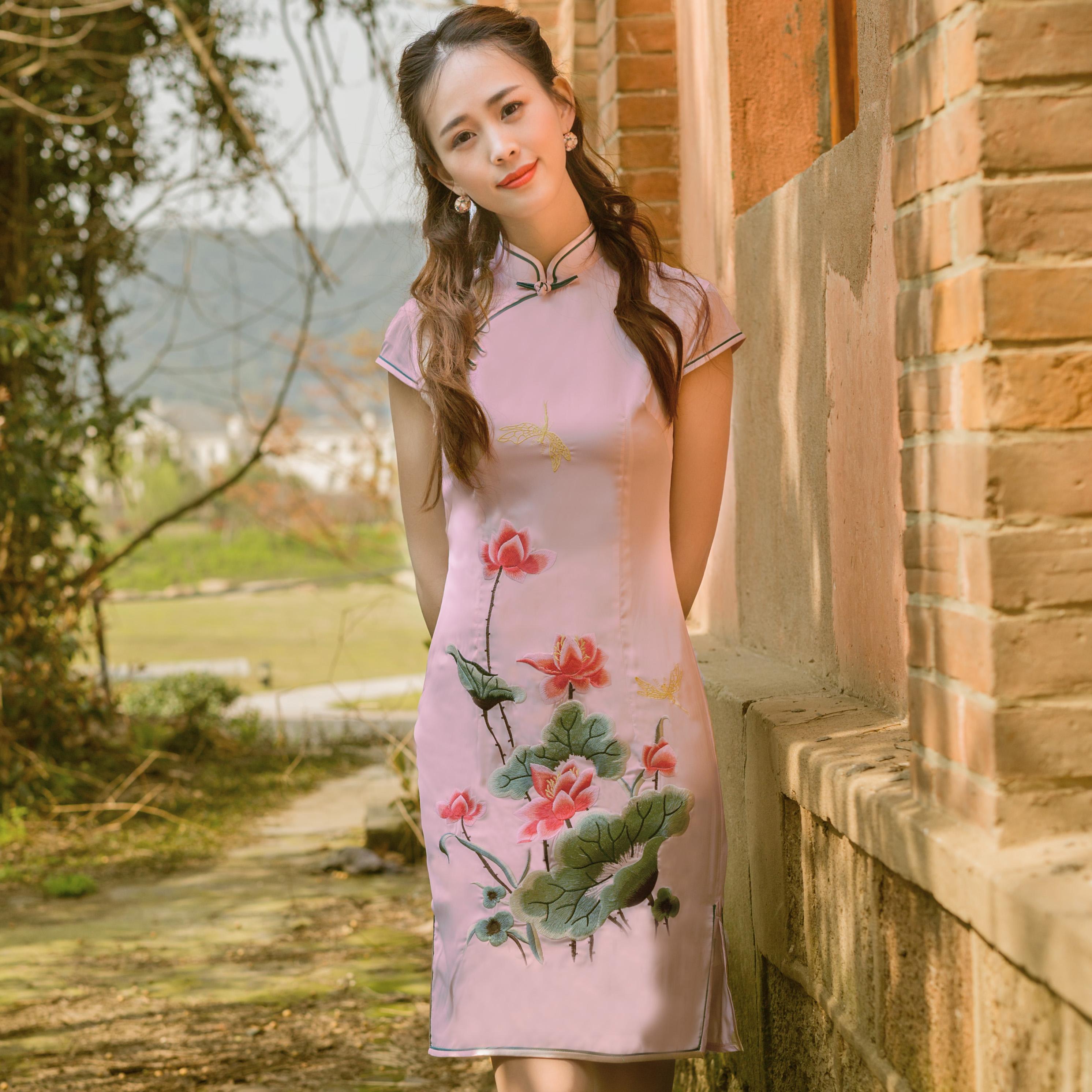 手工丝绸旗袍