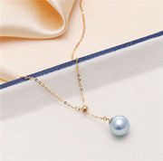 The new classic 18K gold sea water really poly-yarn Y-chain temperament models white collar