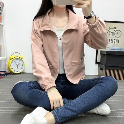 情侣bf短外套春秋韩版学生款运动上衣2018新款女装夹克宽松风衣