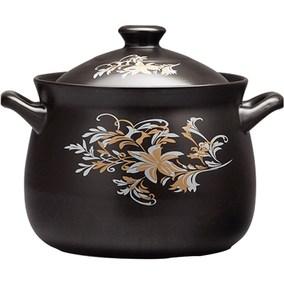 龙斌砂锅耐高温煲仔炖汤煲陶瓷小沙锅煲汤锅炖锅明火家用燃气陶土