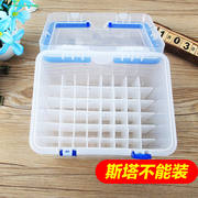 Mark pen box plastic box portable storage box transparent box 36 48 60 80 sticks