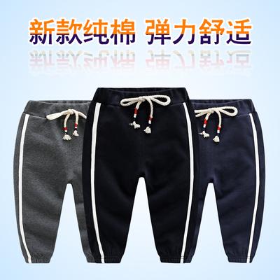 男童黑色长裤