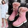 粉色雪地靴中筒