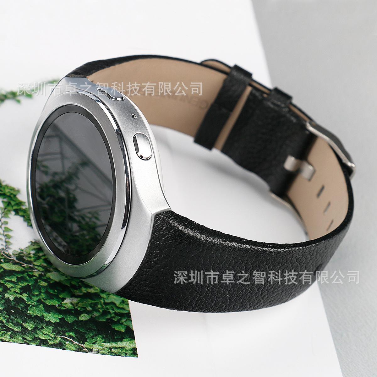 适用于三星Samsung Gear S2真皮表带 智能手表手表带 头层牛皮