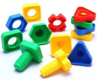 Children's shape screws on the touch plastic inserts and disassembly babies early education assembled building blocks nut combination toys