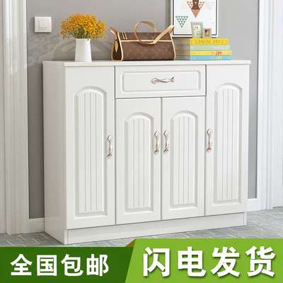 欧式鞋柜简约现代简易经济型实木门口组装鞋架实木客厅玄关门厅柜