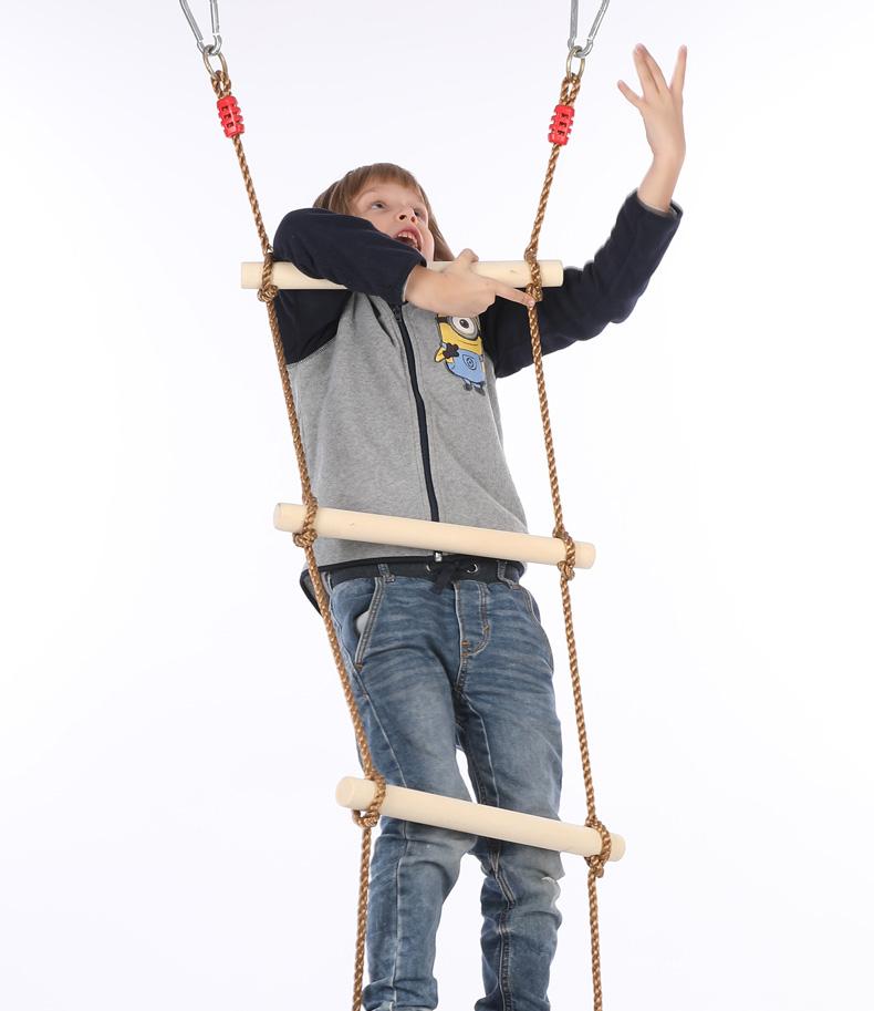 童乐宝贝 6档攀爬梯/木制儿童攀爬梯/秋千/户外运动玩具 游乐设备