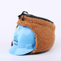 Real ring Jiangsu supervision helmet hard hat cotton helmet winter cold power construction site labor insurance cotton cap to keep warm