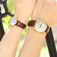Olishi authentic expression couple watches one-price fashion belt simple waterproof automatic mechanical watch