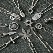 银项链女吊坠时尚锁骨链s925抖音网红多款选择全店买二送一