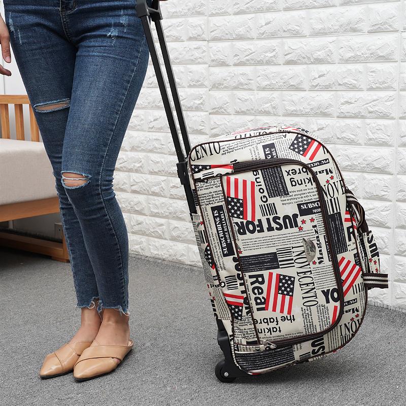 森立拉杆包女大容量拉杆袋轻便旅行包旅行袋手提包拖拉包行李包男