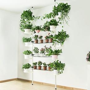 多层铁艺绿萝花架阳台客厅落地面挂式实木高花盆架多肉花架子