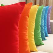 沙发靠垫套纯色靠背办公室腰枕床头靠背套 纯棉靠垫靠枕 全棉抱枕