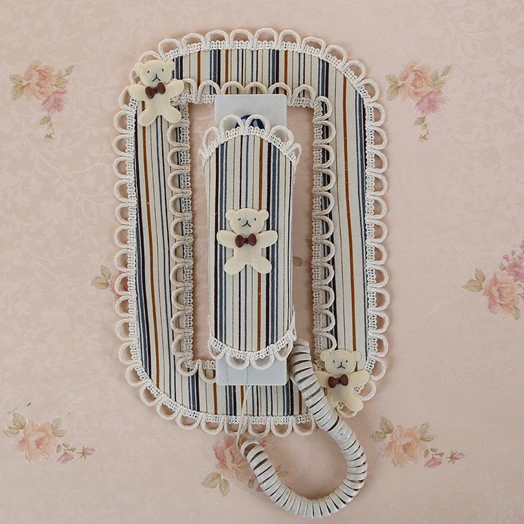 新品布艺蕾丝楼宇室内对讲机装饰贴门铃保护罩电话防尘套