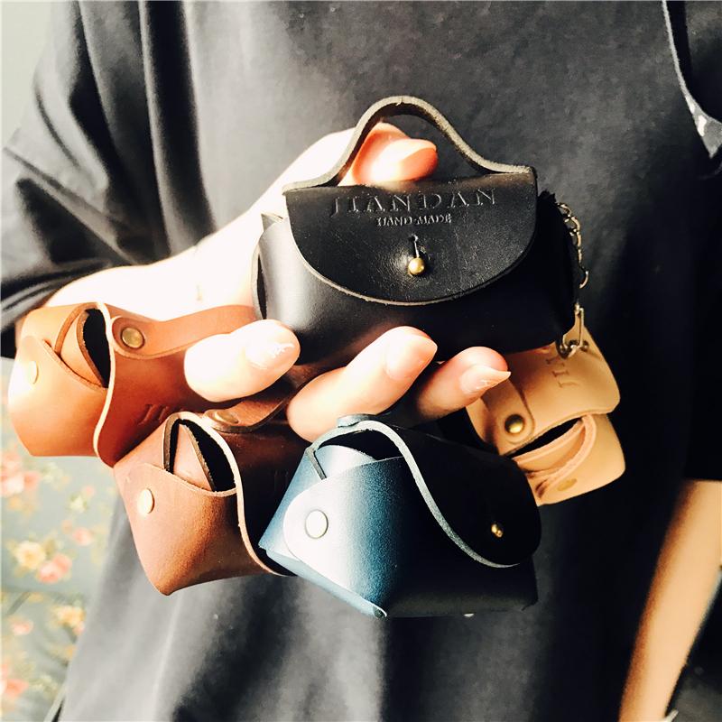 简单手作 植鞣革手工小零钱包迷你包 女包包挂饰 钥匙挂件 硬币包