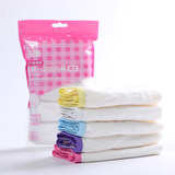 Disposable underwear of jie lv pure cotton for men and women, 5 pairs of travel puerpera's menstruating knickers, free of washing and mailing