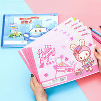 Effective blank paper picture book A4 children's painting art sketch book primary school kindergarten painting picture book hand-painted large white paper wholesale baby female child student with grade 1-3