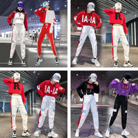 Jazz jazz dance costume Korean version of the loose modern hip-hop hip hop exercise suit female adult cheerleading uniform