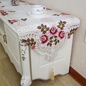 欧式电视柜桌布长方形梳妆台盖布家用客茶几桌布餐桌桌旗现代简约