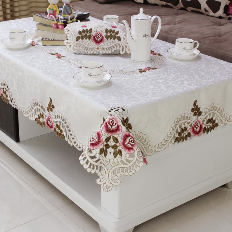 客厅桌布蕾丝