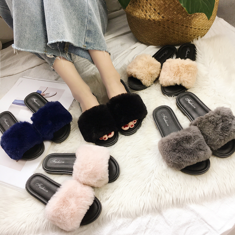 毛拖鞋韩国