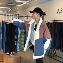 韩国风2018冬装新款宽松大码两面穿休闲羽绒服女短款oversize外套