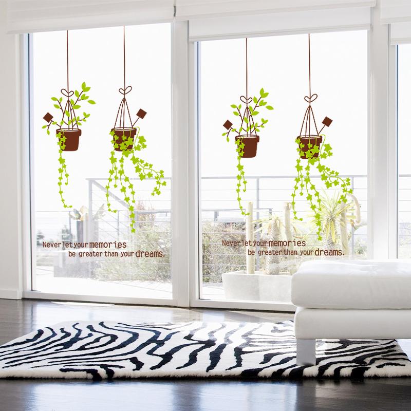 客厅玻璃贴花