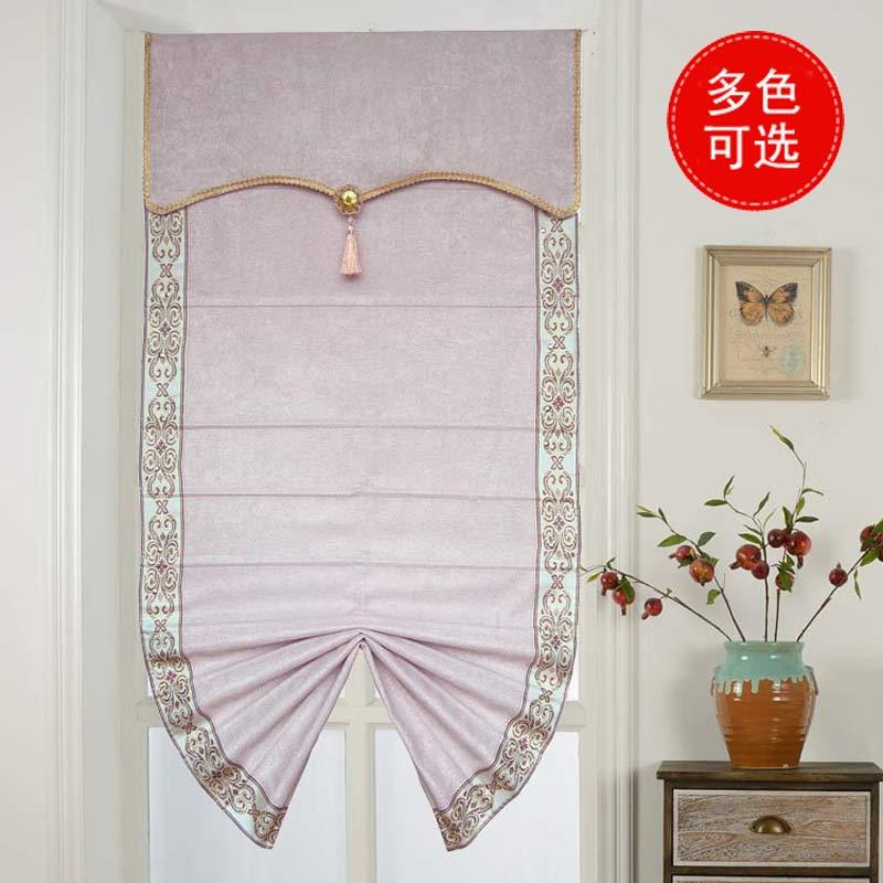 餐厅纯色窗帘