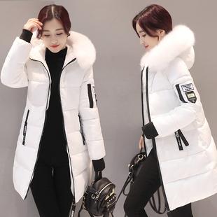 2017反季棉衣女中款加厚款韩版修身羽绒棉服大码棉袄外套