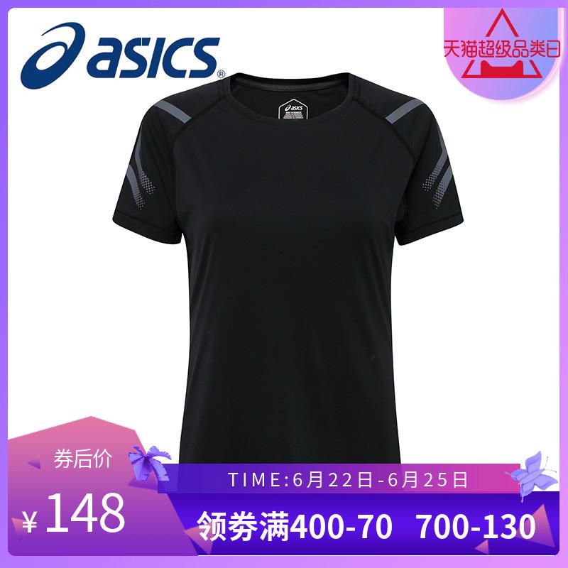 ASICS亚瑟士 2018春夏新款女士短袖T恤 圆领T恤154702-0904