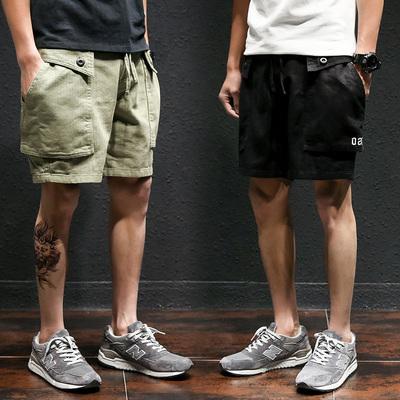 短裤男3分裤男士三分裤潮流工装裤子宽松大裤头外穿大裤衩子马裤4