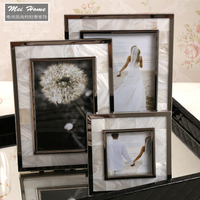 新古典欧式样板房相框6寸7寸贝壳个性创意组合相框摆台相架装饰品
